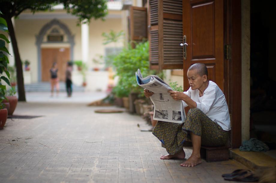 Monks in Phnom Penh Cambodia