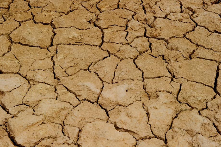 Dry soil in Cambodia