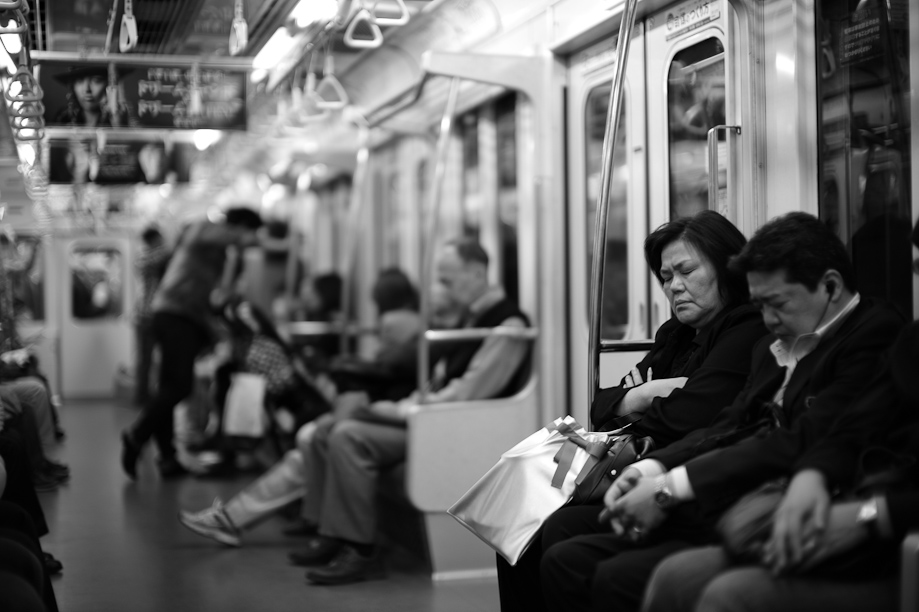 On the train to Ginza