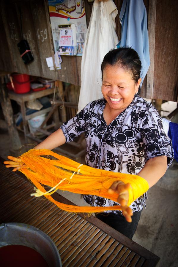 Silk Cottage Industries in Cambodia