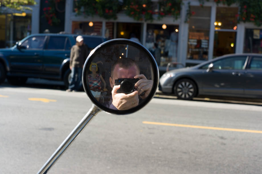 Me in the mirror - moped style