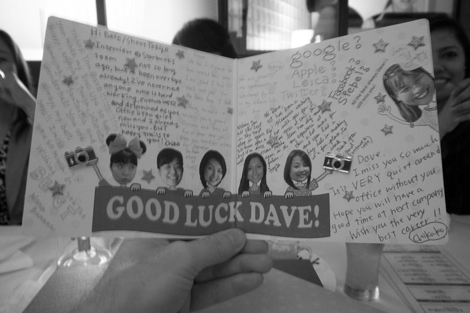 Good Luck Dave