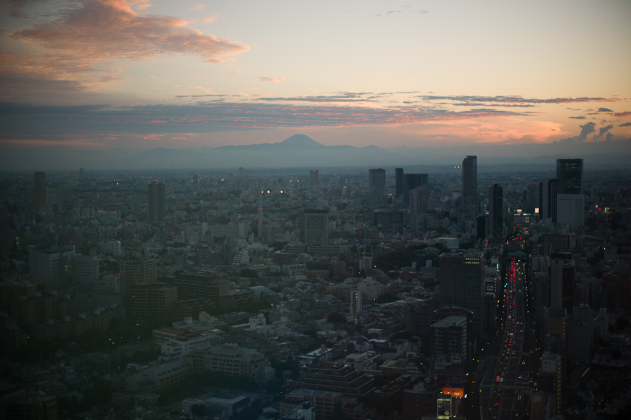A view of Mt Fuji from Tokyo, Japan