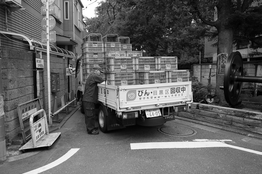 A delivery truck in Yutenji, Tokyo, Japan