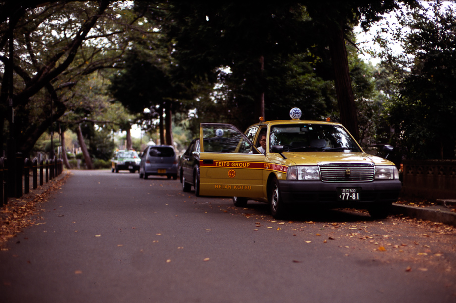 Taxi driver break in Yanaka