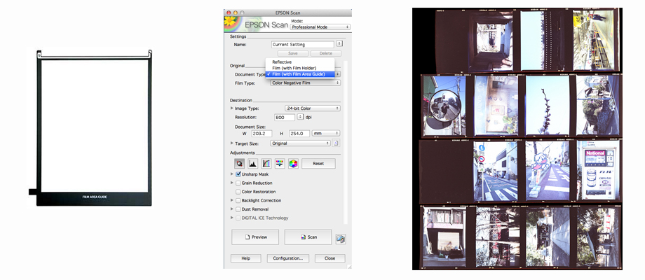Making a contact sheet with EpsonScan