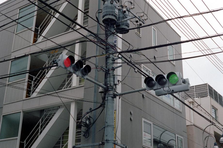 Traffic Lights in Jiyugaoka, Tokyo, Japan