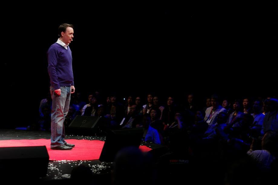 Rene Duignan speaking at TEDxTokyo 2013