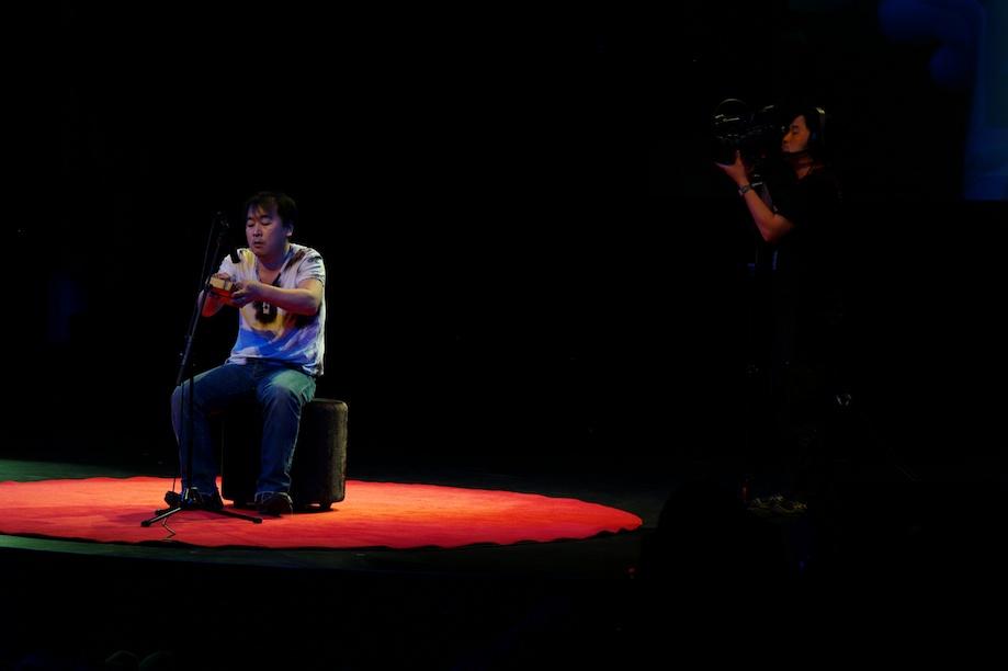 Hiroyuki performing at TEDxTokyo 2013