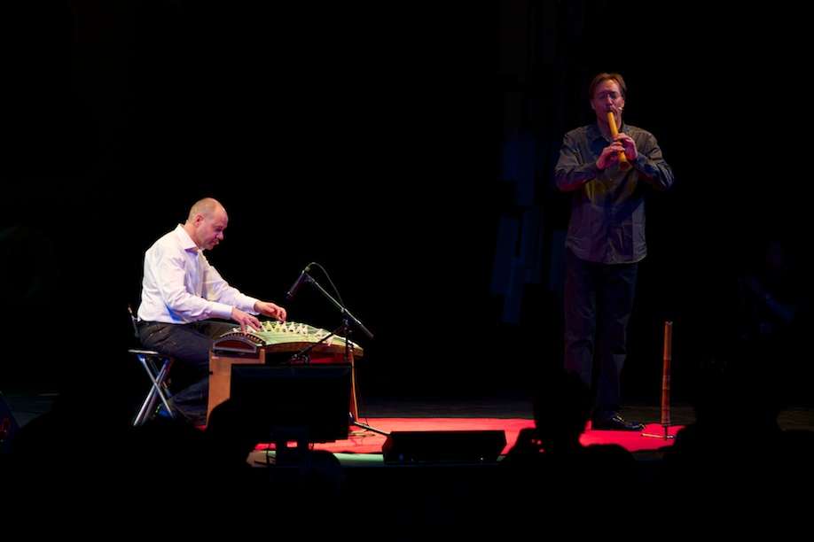 Bruce Huebner and Curtis Patterson performing at TEDxTokyo 2013