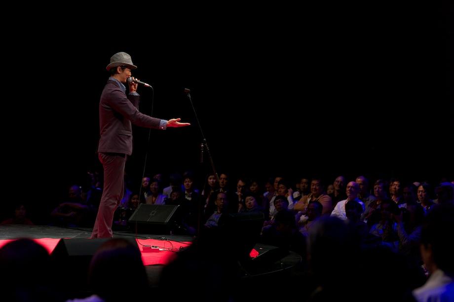 Shingo Annen performing at TEDxTokyo 2013