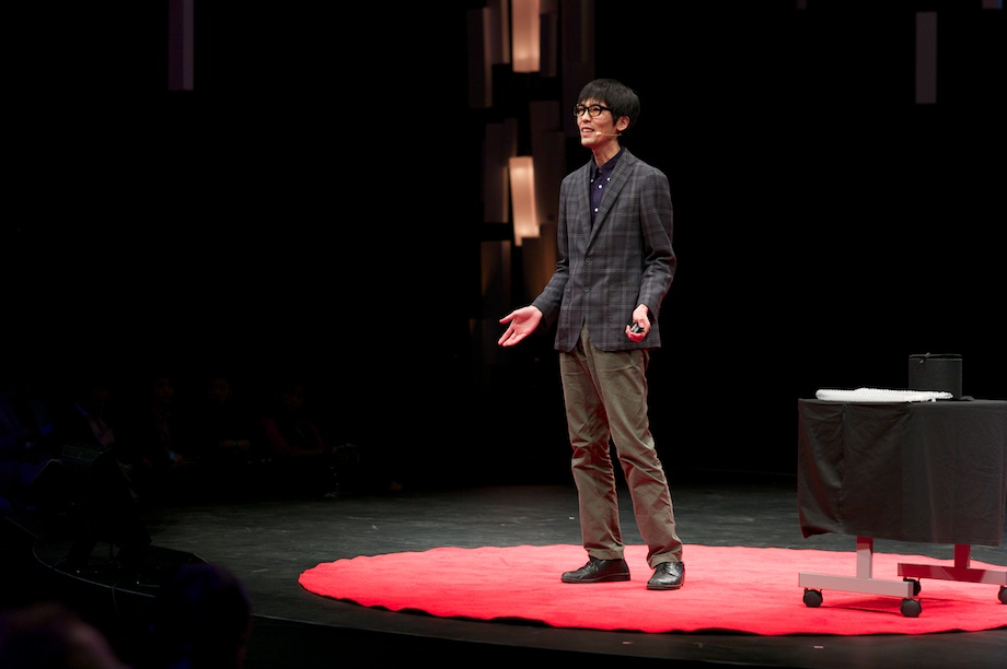Shimpei Takahashi speaking at TEDxTokyo 2013