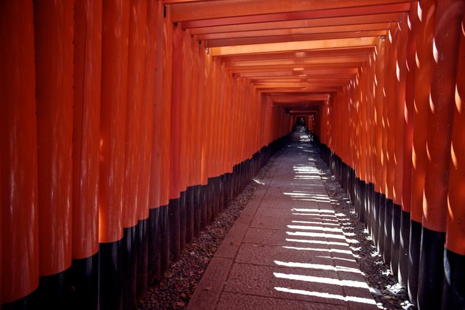 1000 Tori Gates of Fushimi-inari Taisha in Kyoto