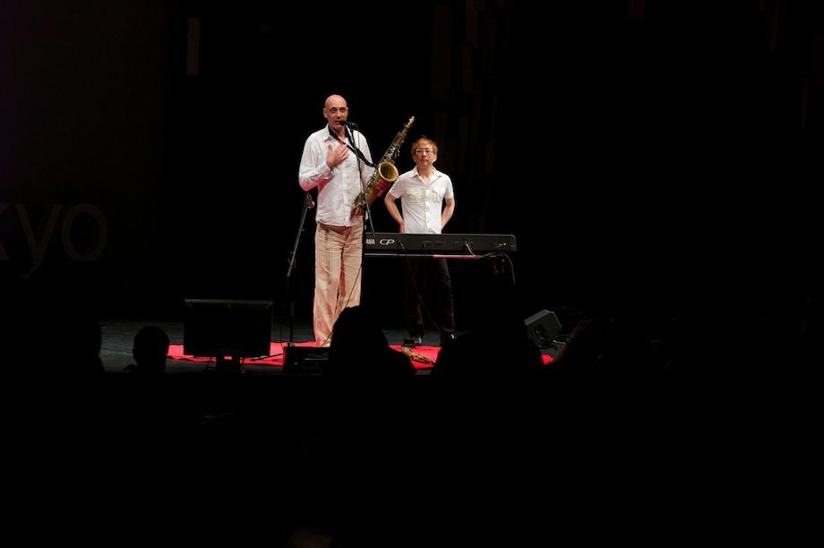 Dimitri Vassilakis and Makoto Kuriya performing at TEDxTokyo 2013
