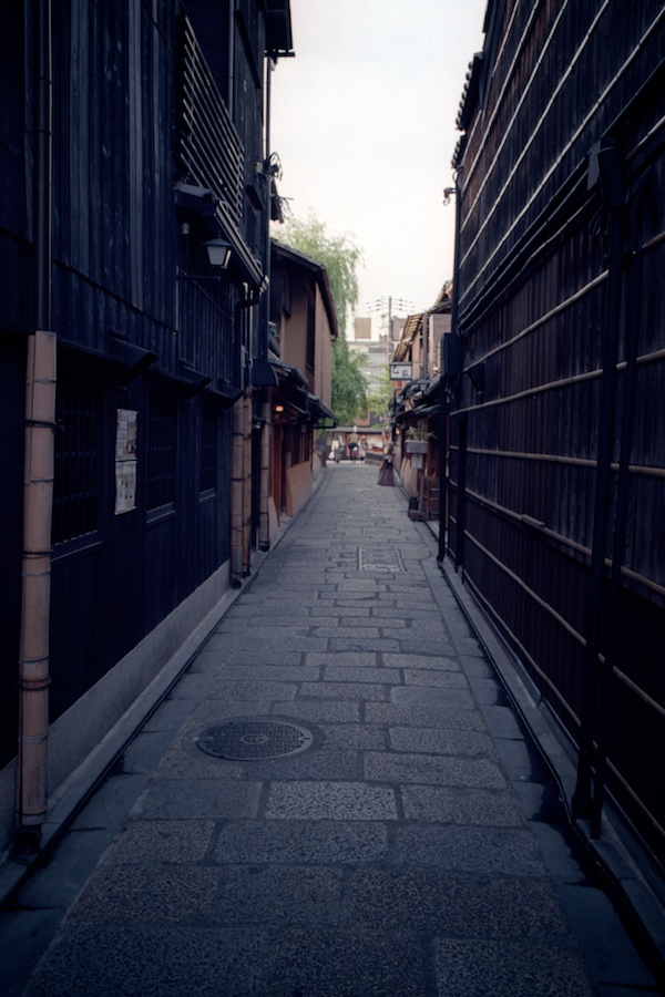 Gion in Kyoto shot on Kodak Elmar 100 with a Leica M6