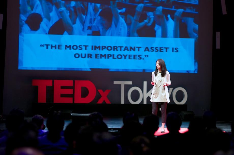 Kumi Fujisawa speaking at TEDxTokyo 2013
