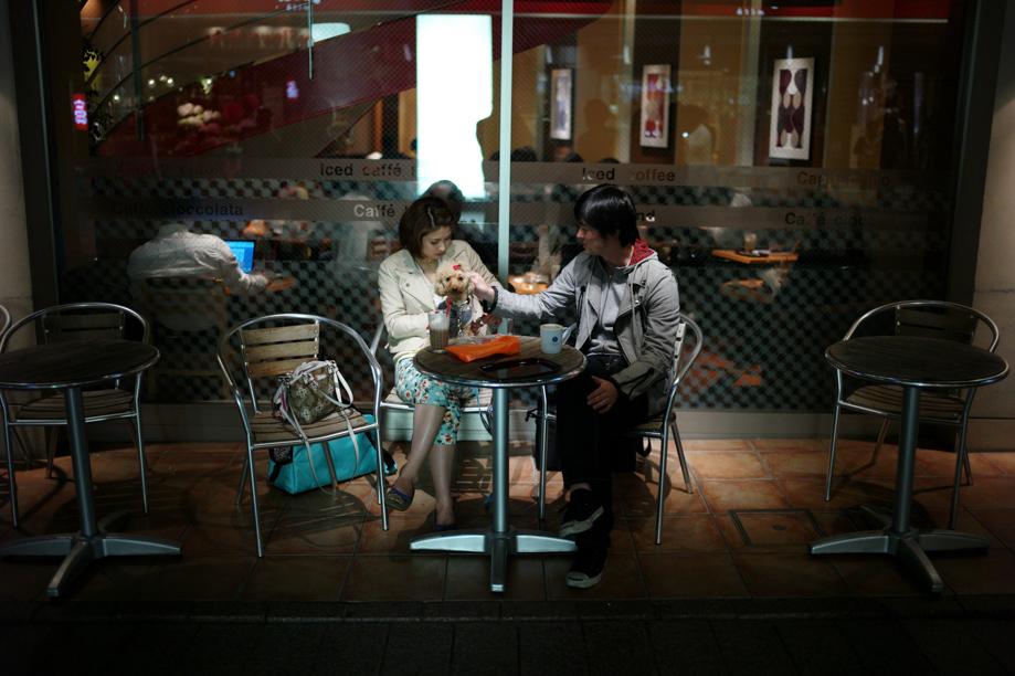 A couple in Jiyugaoka in Tokyo