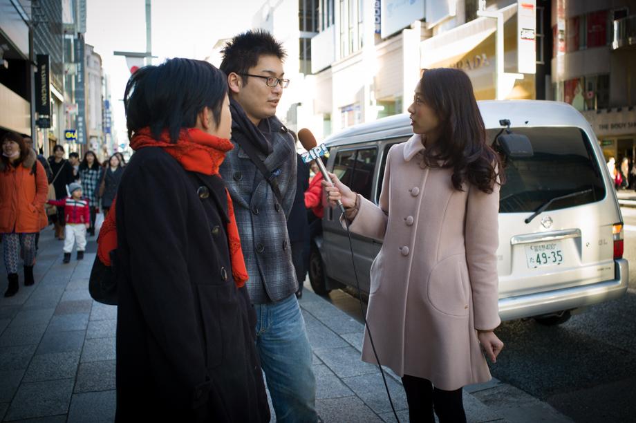 Street Interviews in Ginza