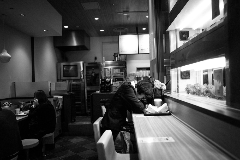 Sleeping at Subway Sandwiches