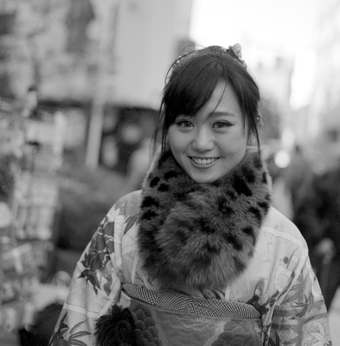 Girl in Kimono in Asakusa
