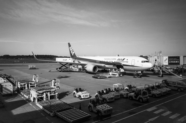 ANA Flight at Narita