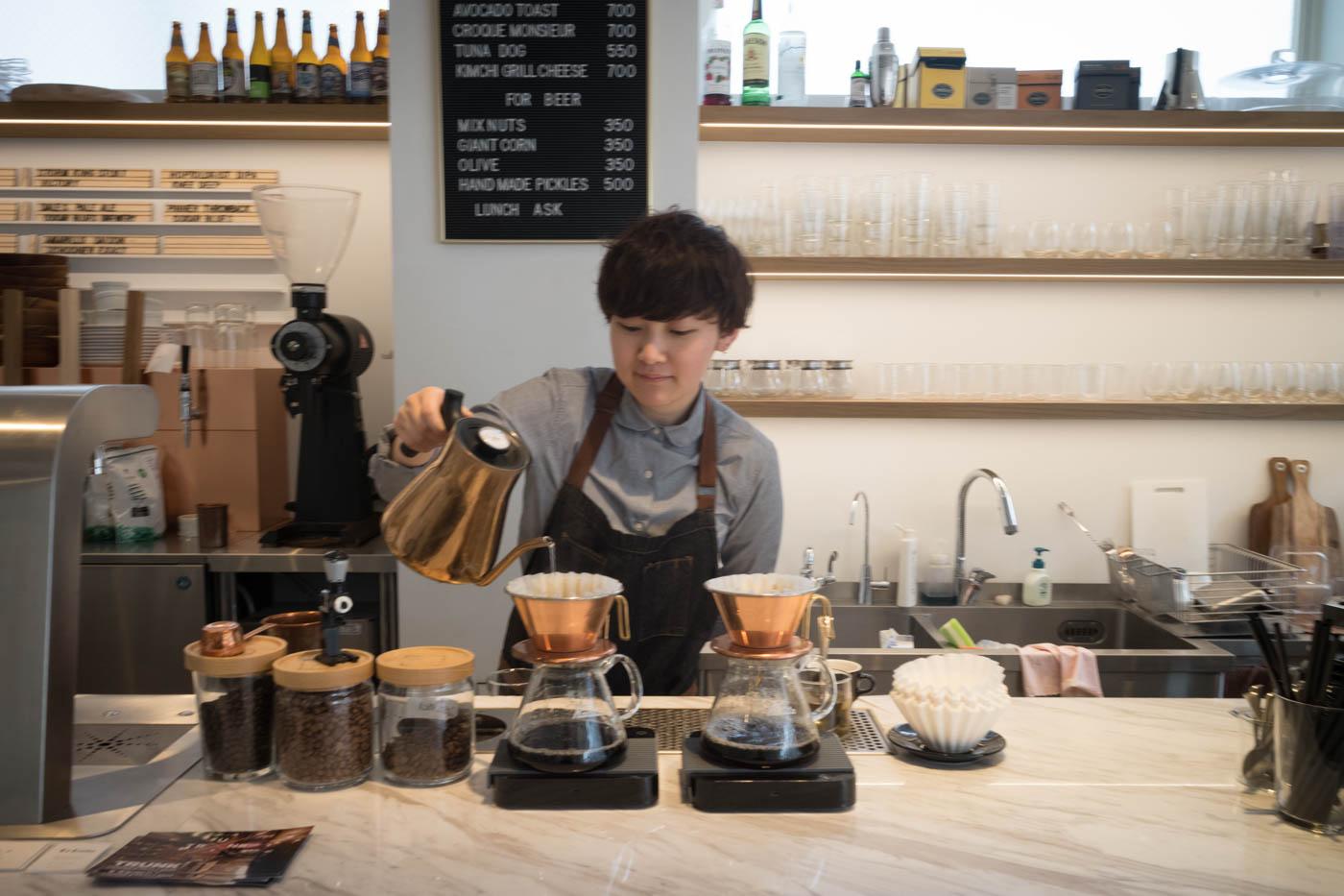 Misa at Alpha Beta Coffee Club