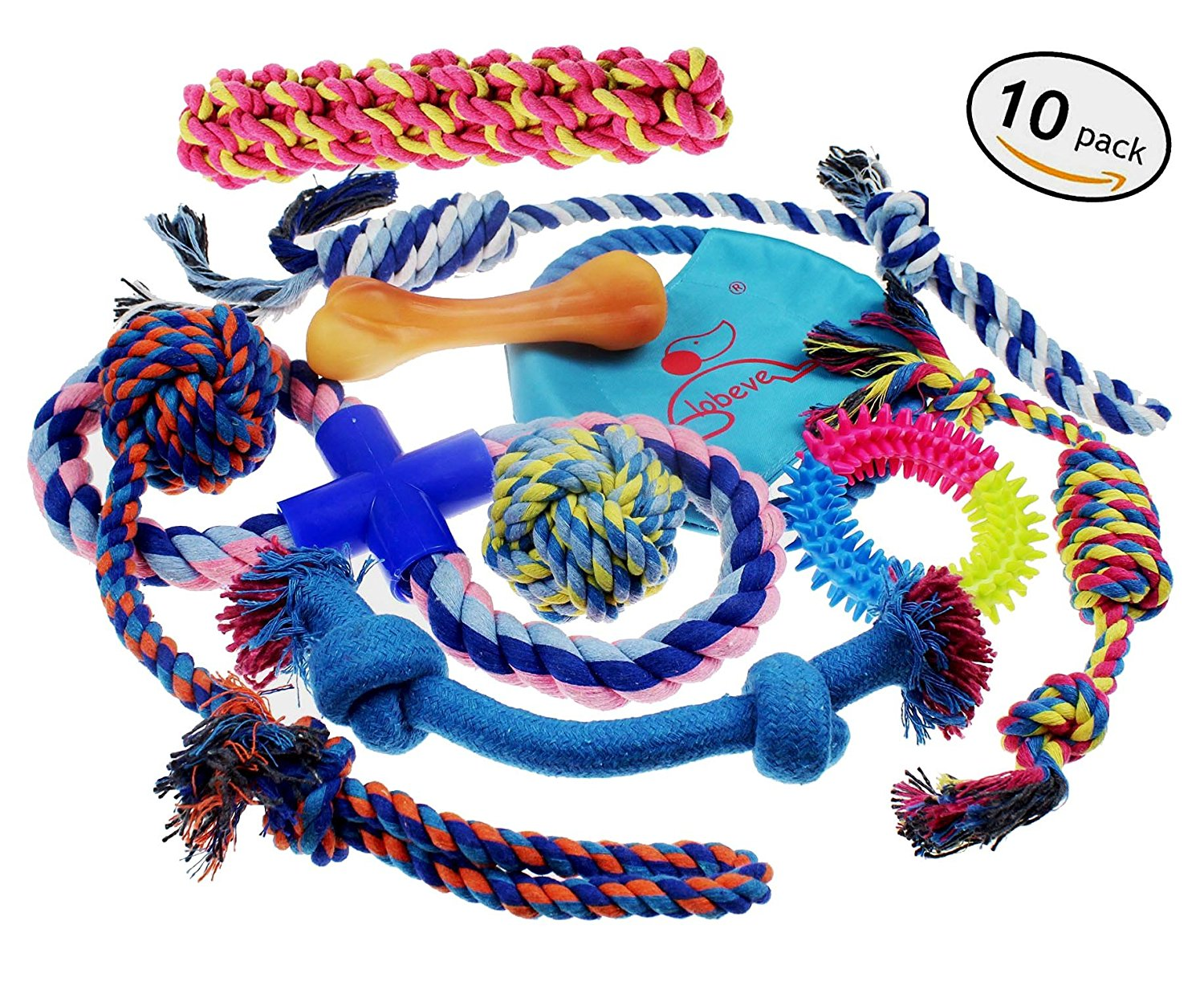 Lobeve Dog Toys 10 Pack Gift Set, for Medium - Small Dogs
