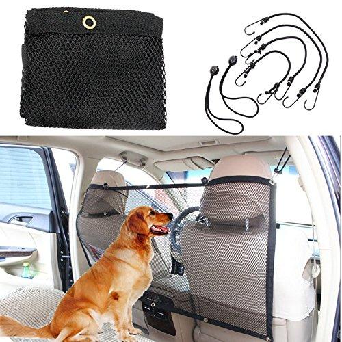 Pet Car Net Barrier, Focuspet Pet Safety Travel Isolation Net Car Universal Mesh Vehicle Van Back Seat Dog Barrier Mesh 45''x24.5''