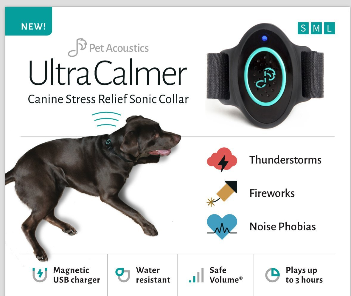 Ultra Calmer Canine Stress Relief Sonic Collar, Large (16-25-Inch)