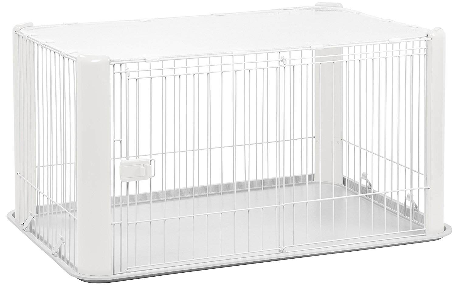 IRIS Wire Dog Crate with Mesh Roof