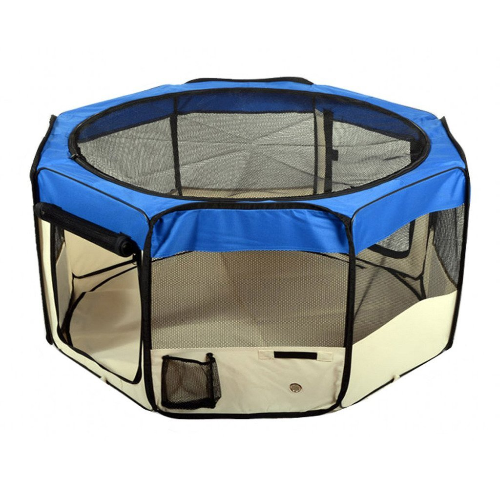 """Jespet 45"""" & 61"""" Foldable Portable Playpen Exercise Pen Kennel 600D Oxford Cloth with Carry Bag"""