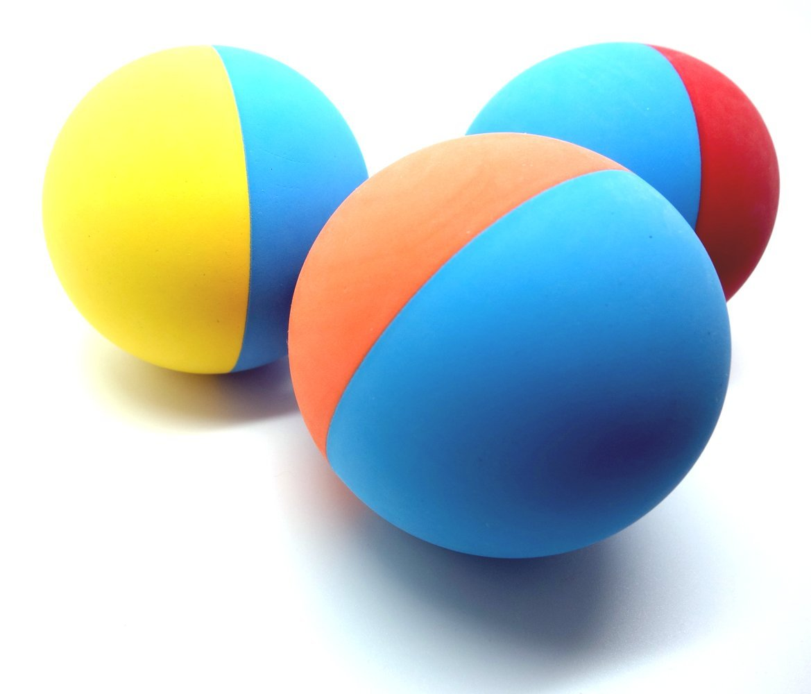 Snug Rubber Dog Balls - Virtually Indestructible (3 Pack)