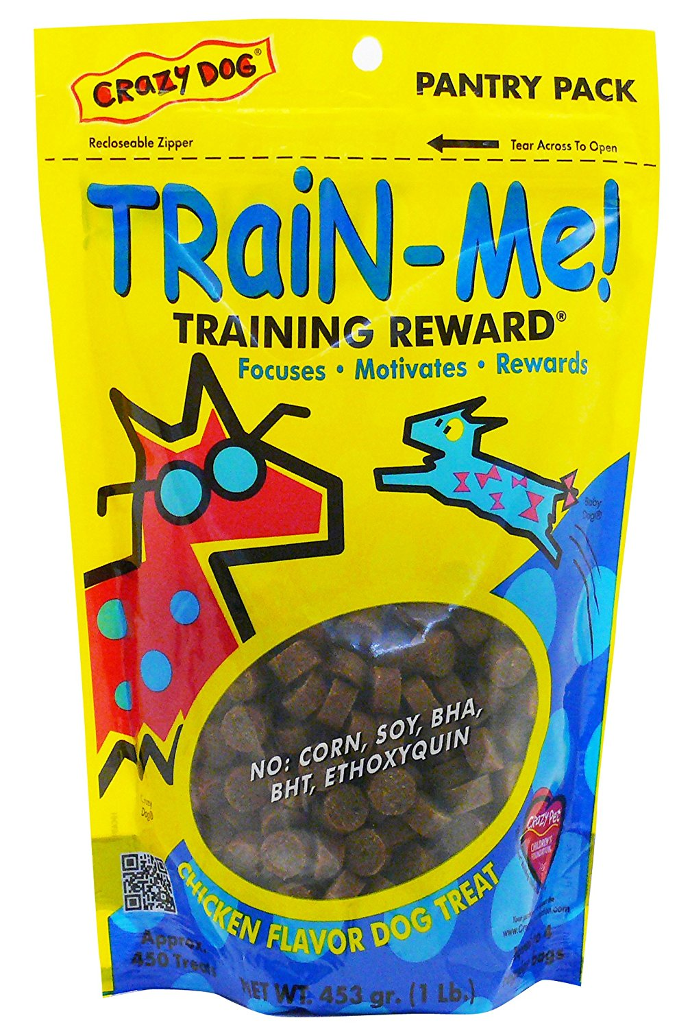 Crazy Dog Train-Me! Training Reward Dog Treats 16 oz.