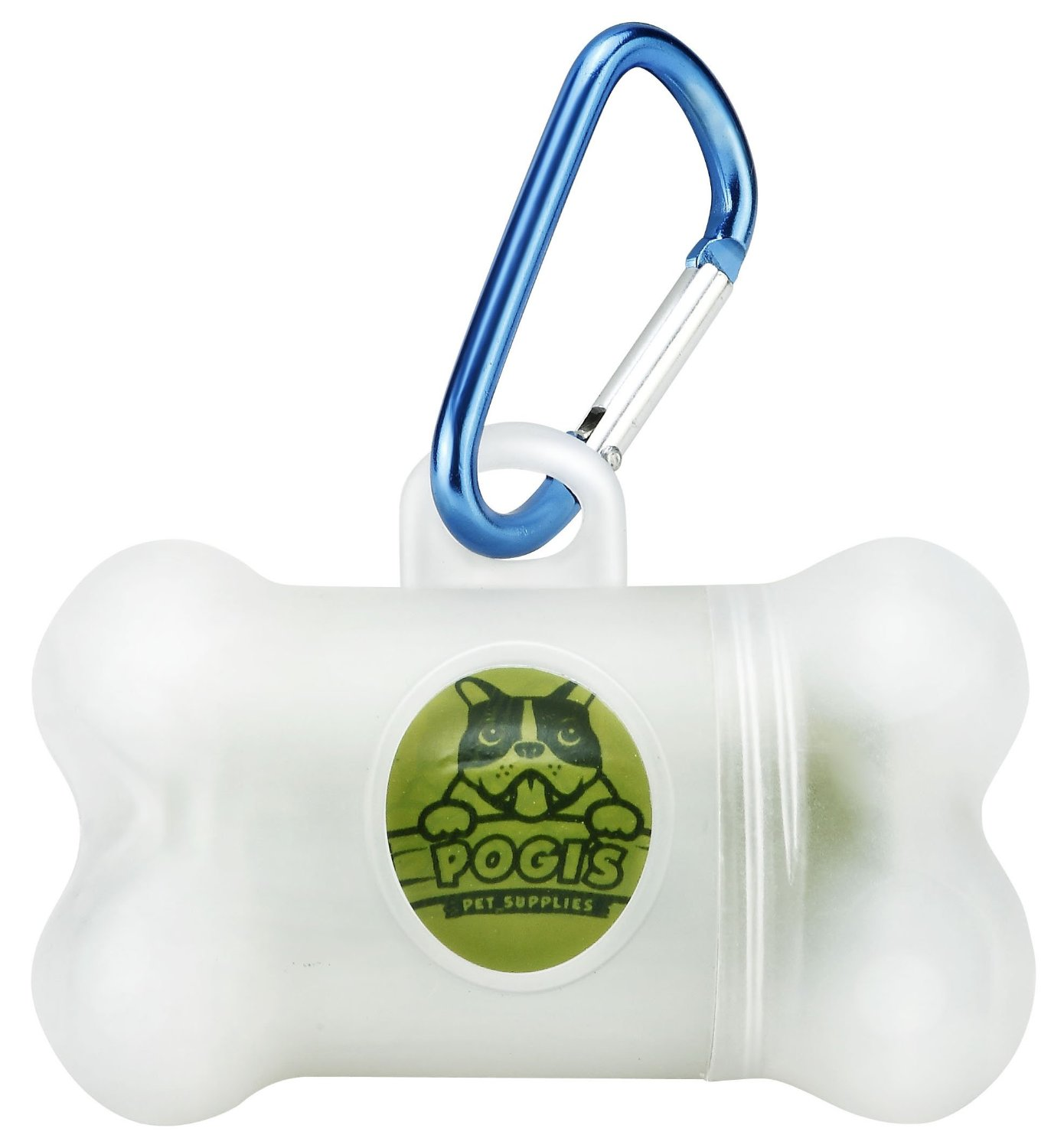 Pogi's Poop Bag Dispenser - Includes 1 Roll (15 Bags) - Large, Earth-Friendly, Scented, Leak-Proof Pet Waste Bags