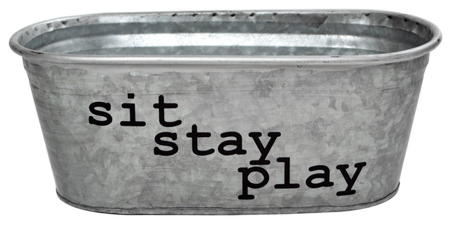 Sit, Stay, Play Galvanized Tub