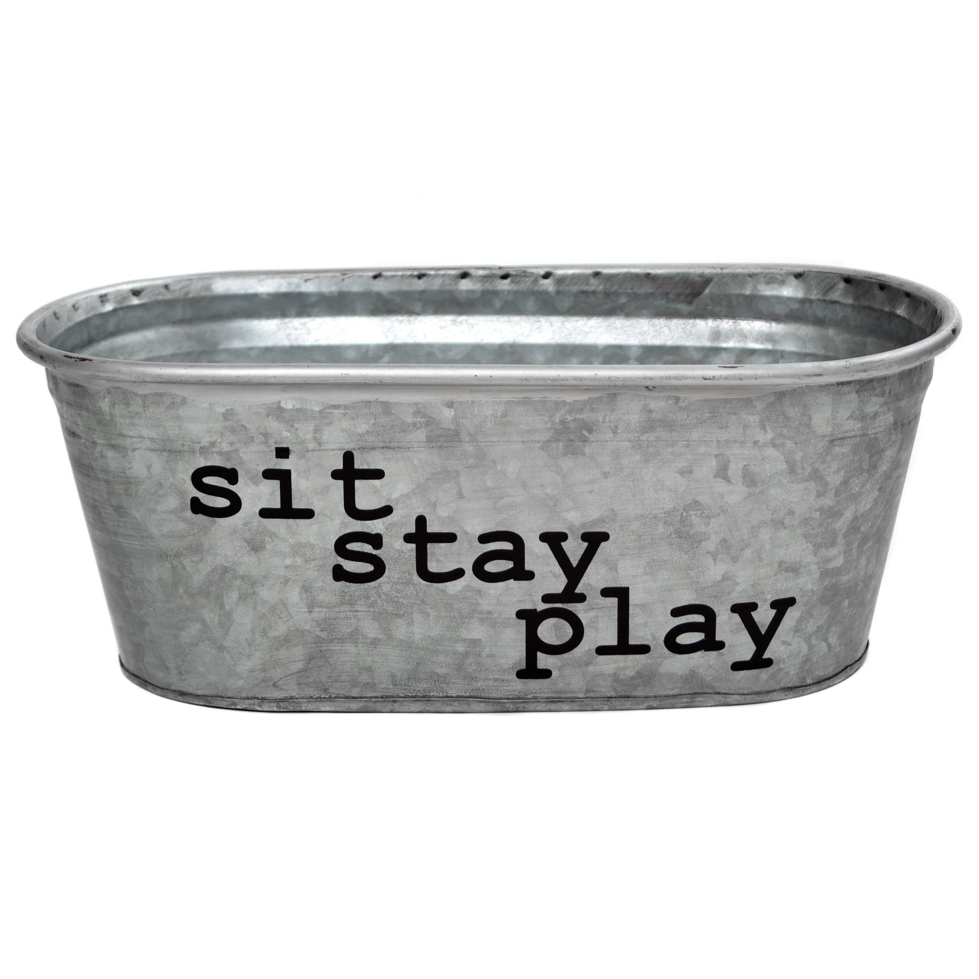 Sit, Stay, Play Galvanized Tub