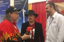 Dr. Emmet C. (Tom) Thompson II joined Evil Cowboy hot sauce for an interview at ZestFest 2017. Pictured (L to R): Kendall Stadler--head reviewer and owner of Tastingtheheat.com, Thompson and Kurt Riddlesperger from Evil Cowboy Hot Sauce.  (RDT Photography photo)