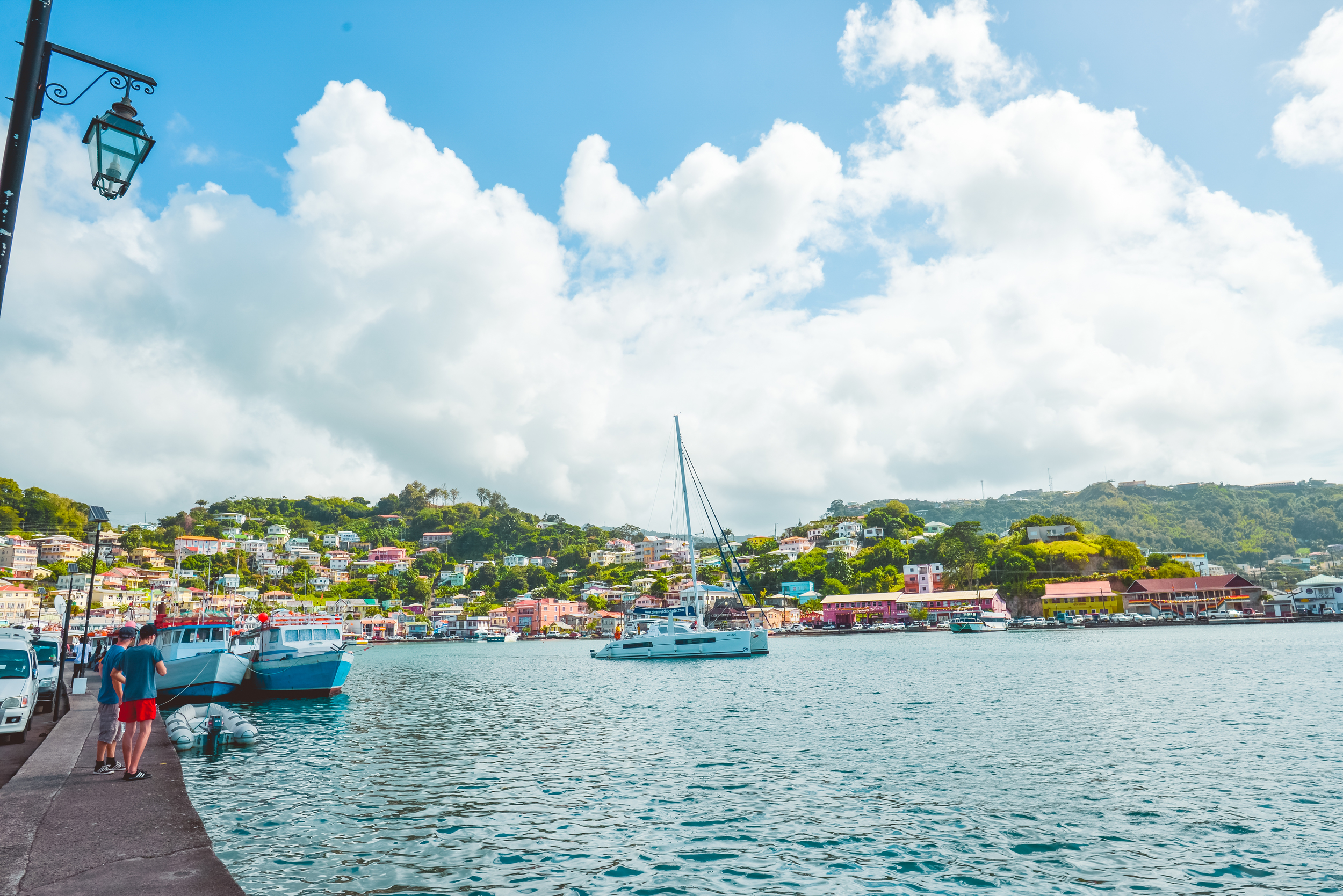 The port of St Georges, Grenada - Spice Isle