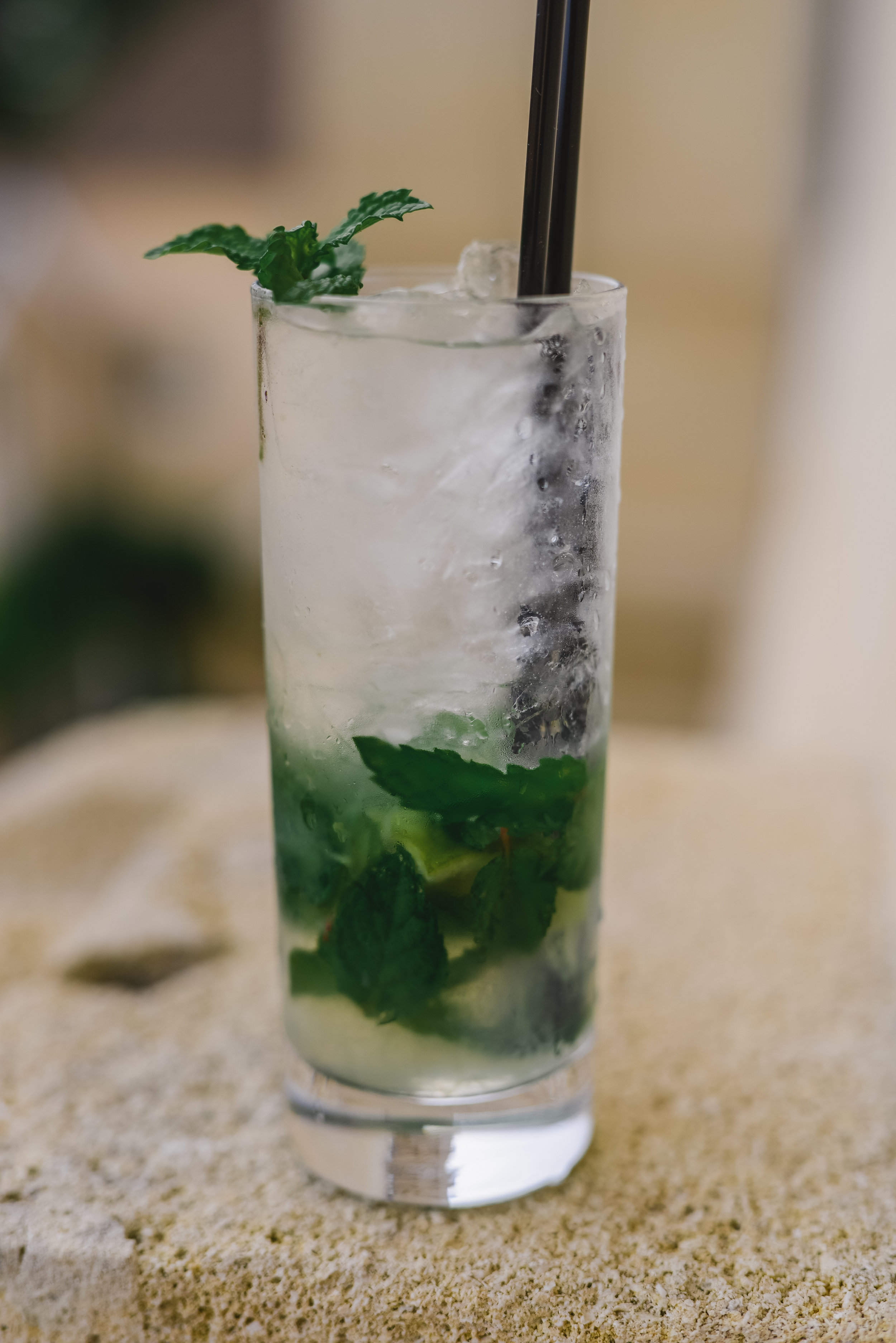 My favorite mojito to date - The French mojito, by Chateau Grand Barrail.