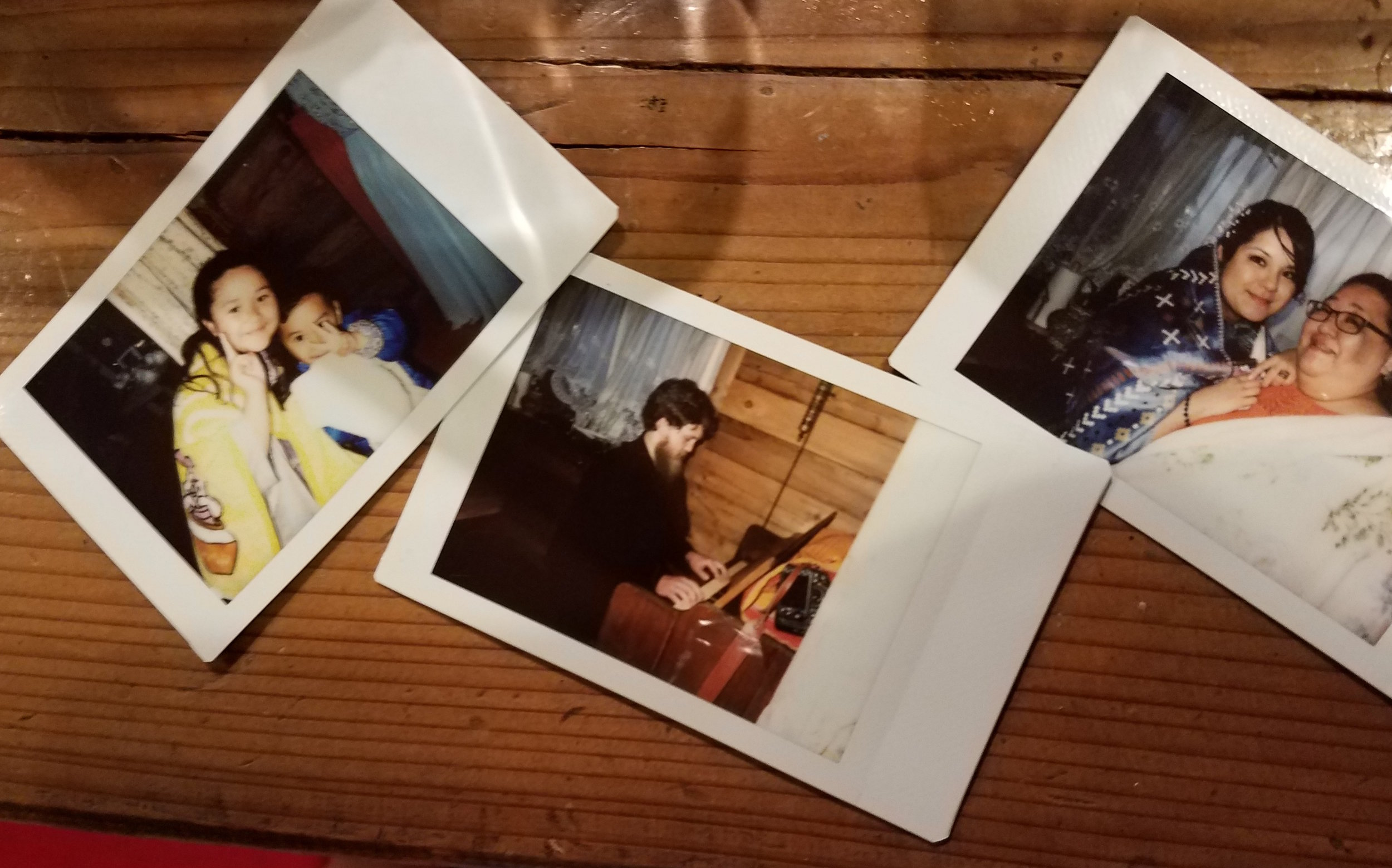 Polaroids from the night's festivities