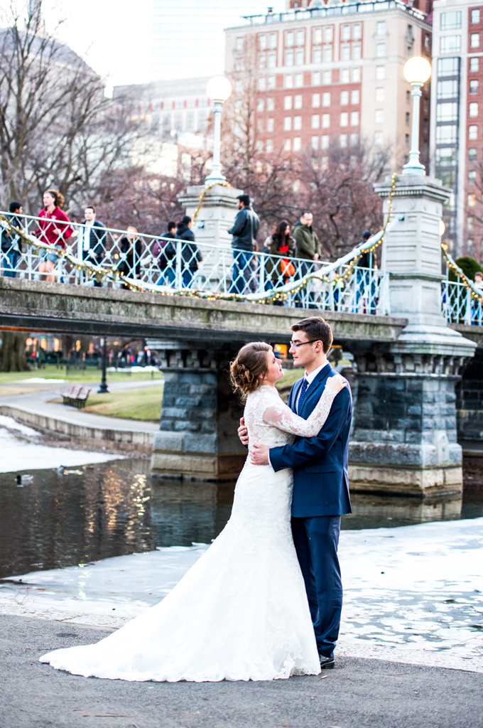Beautiful bride at Boston Public Garden | Boston Wedding Photographer | Photos by Iryna's Photography