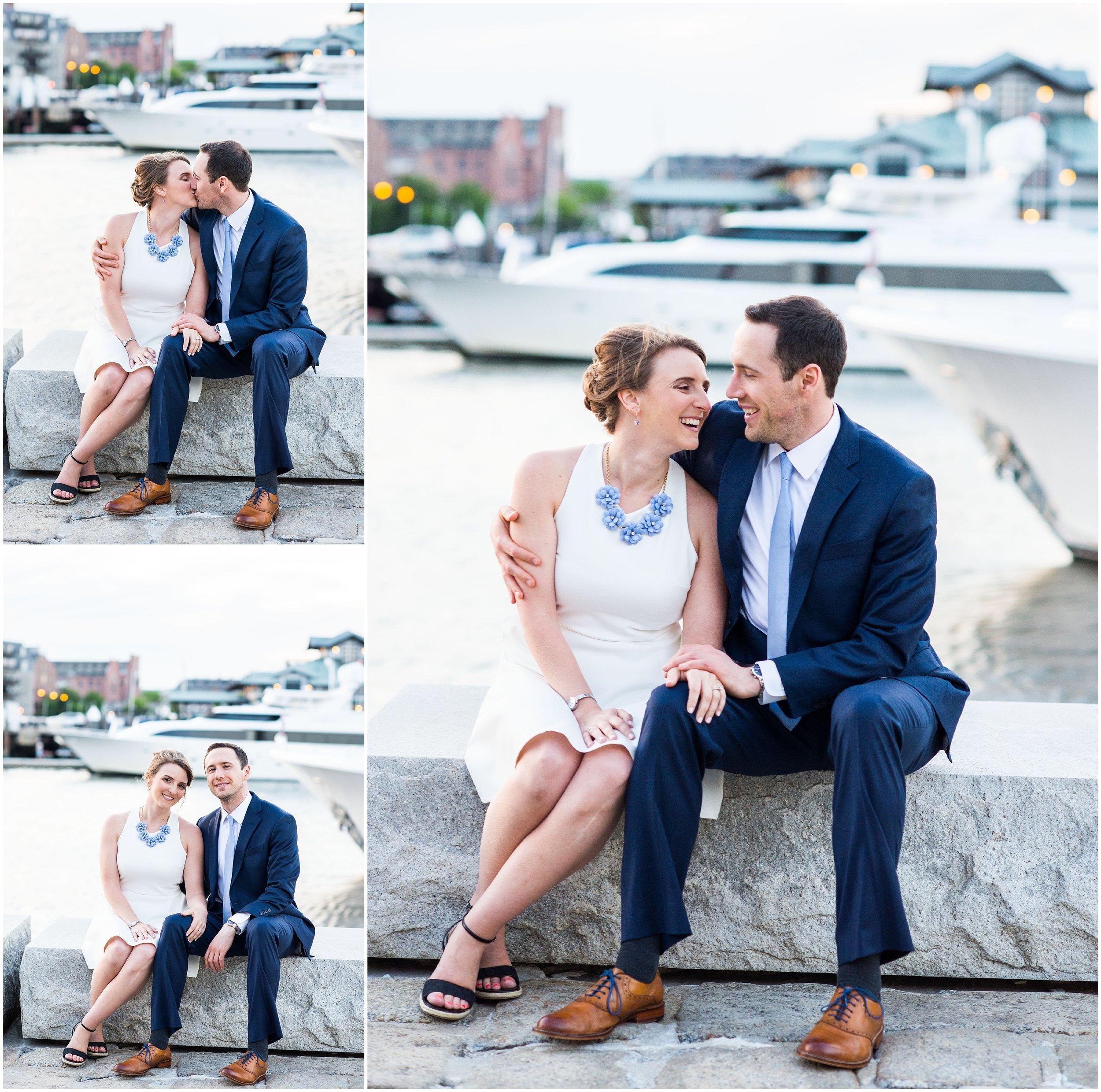 Boston Harbor Engagement Photos
