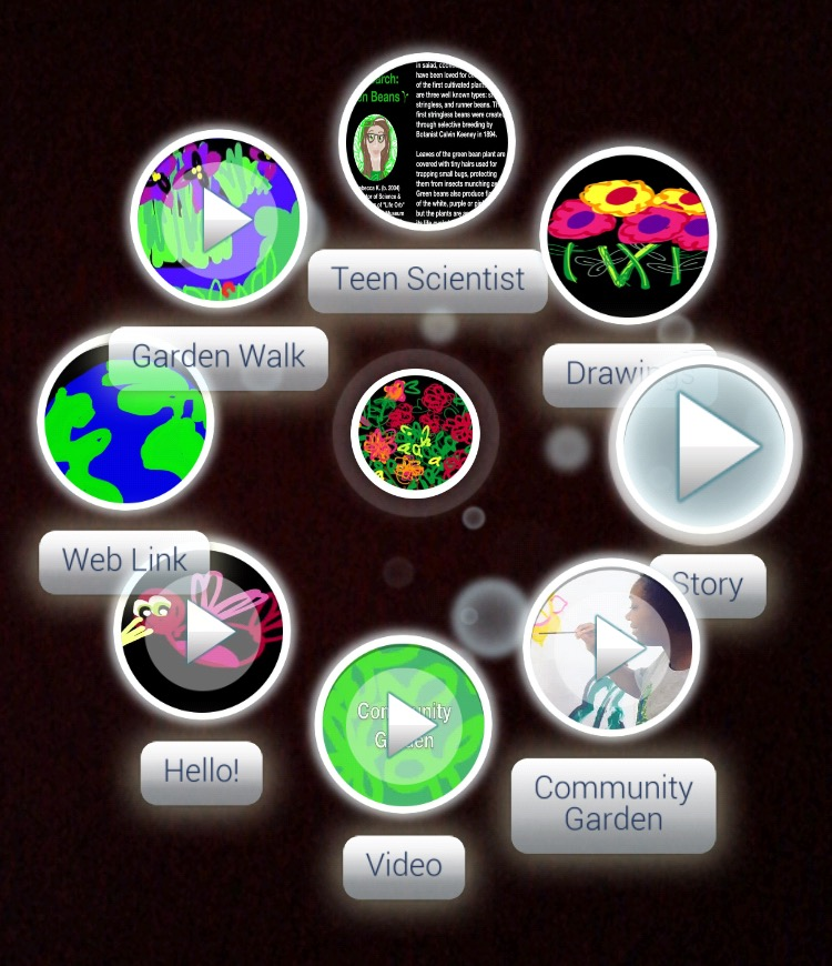 Screenshot of Augmented Reality using Zappar App's Widgets