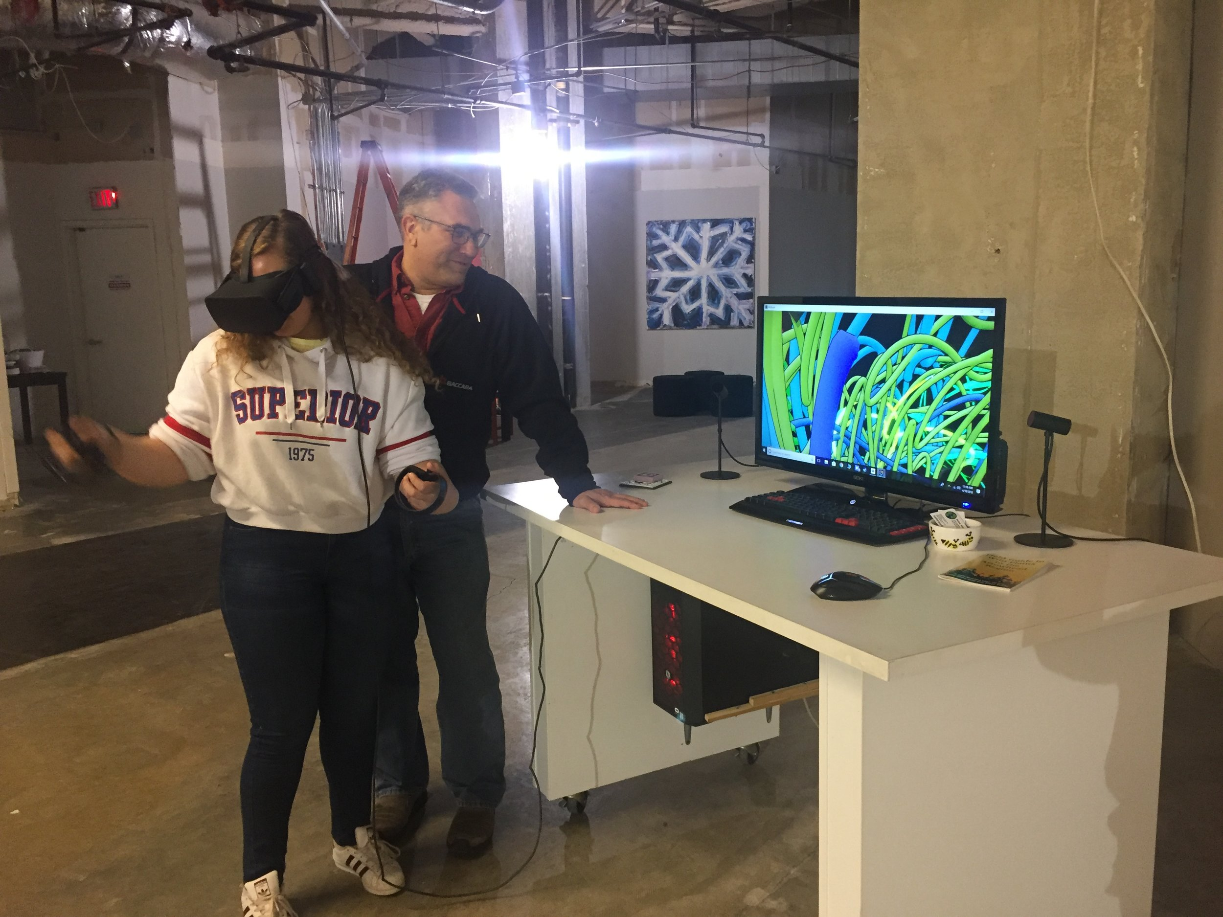 Teens drawing in VR!