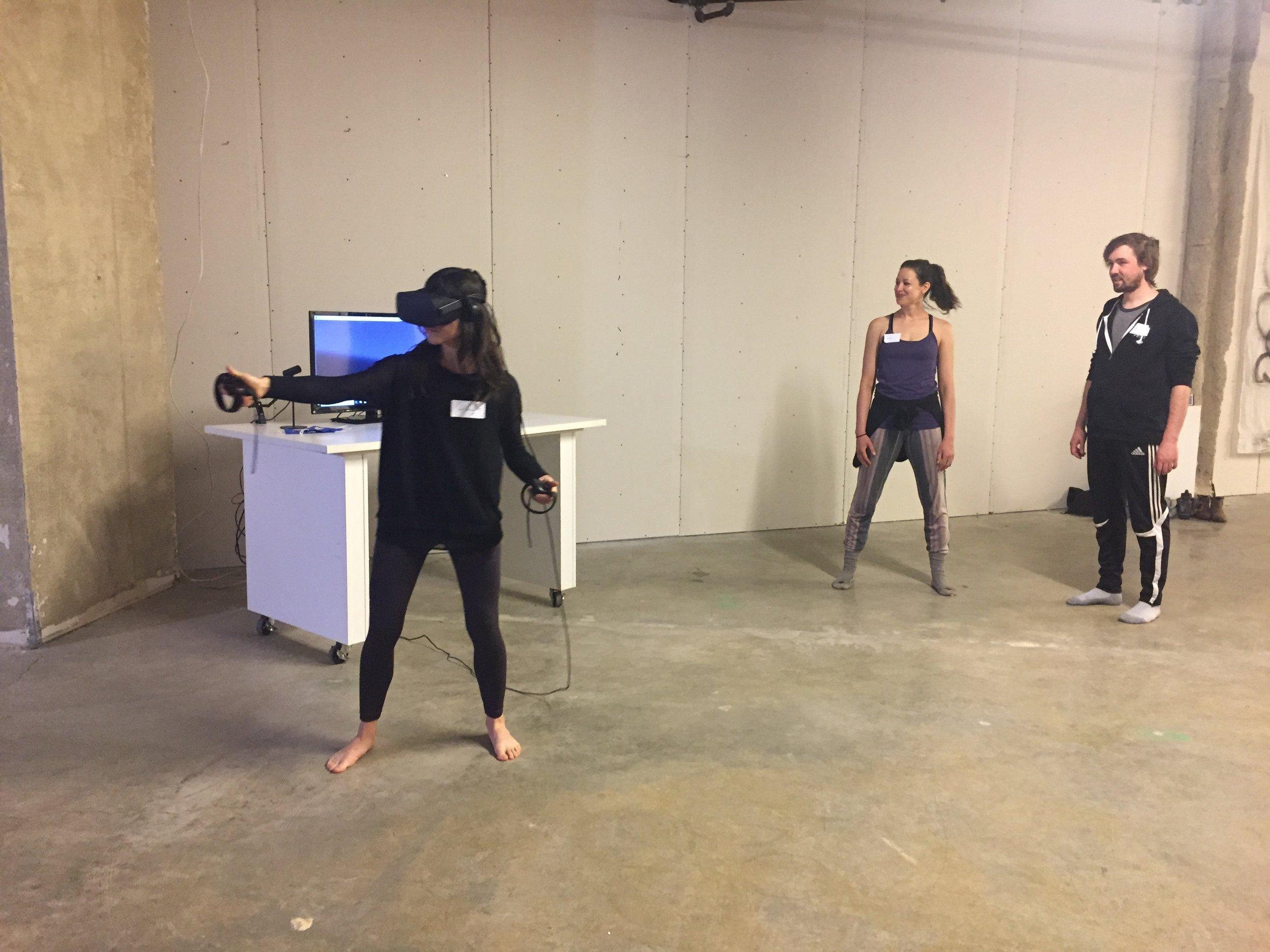 Hilary draws in VR