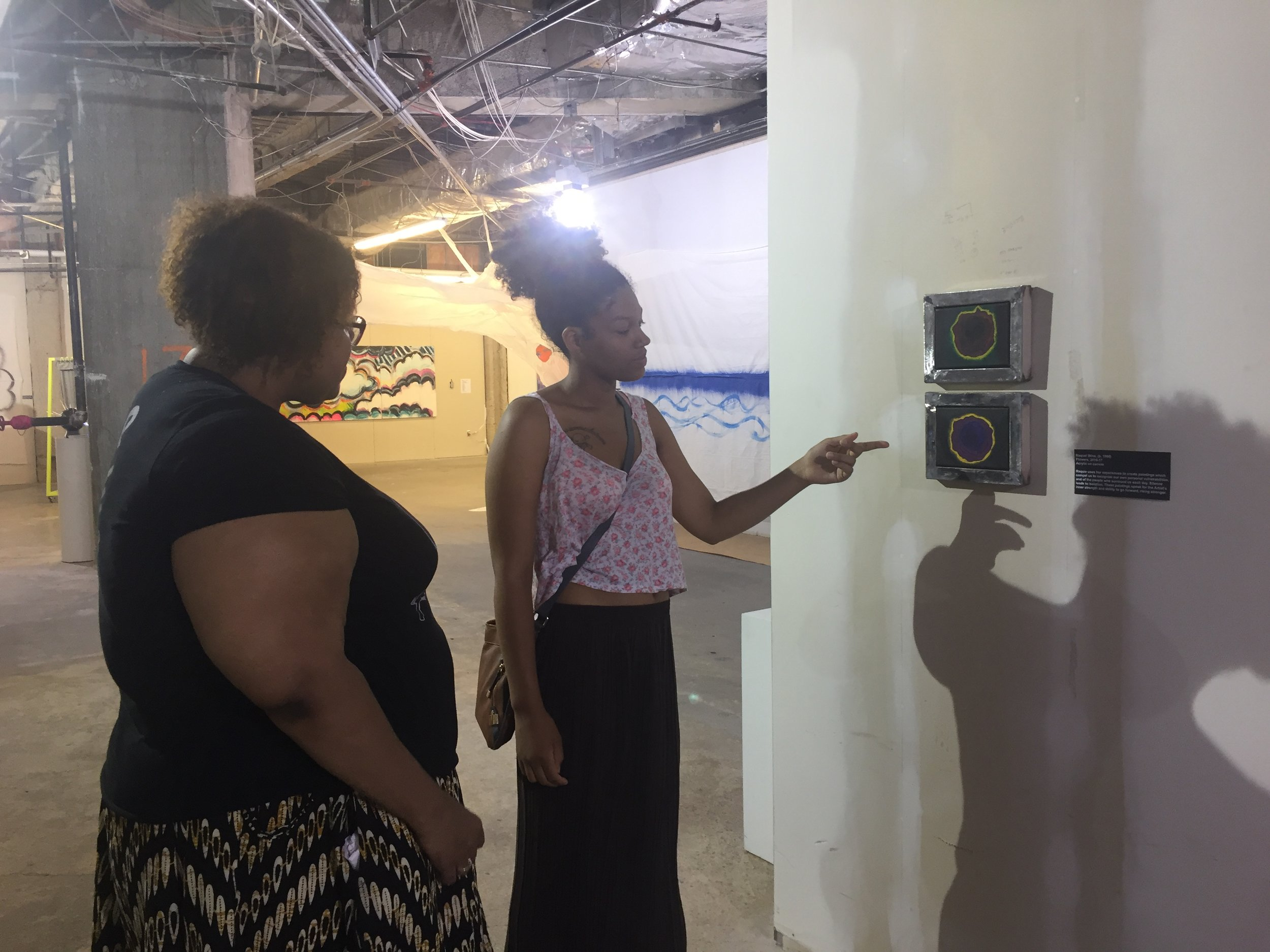 Raquie Wins shares her work with Monica Montgomery of Museum of Impact