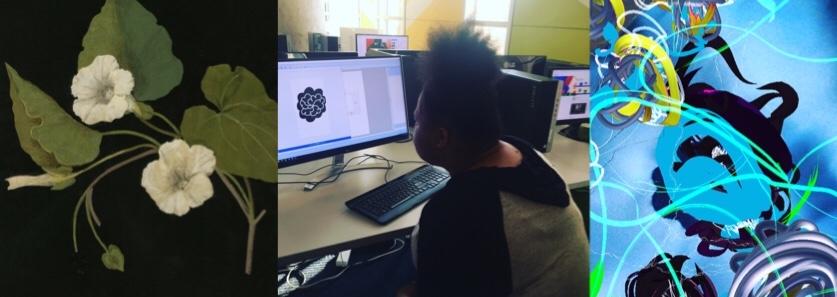 Member of Best Buy Teen Tech Center Makes AR Flower Patch