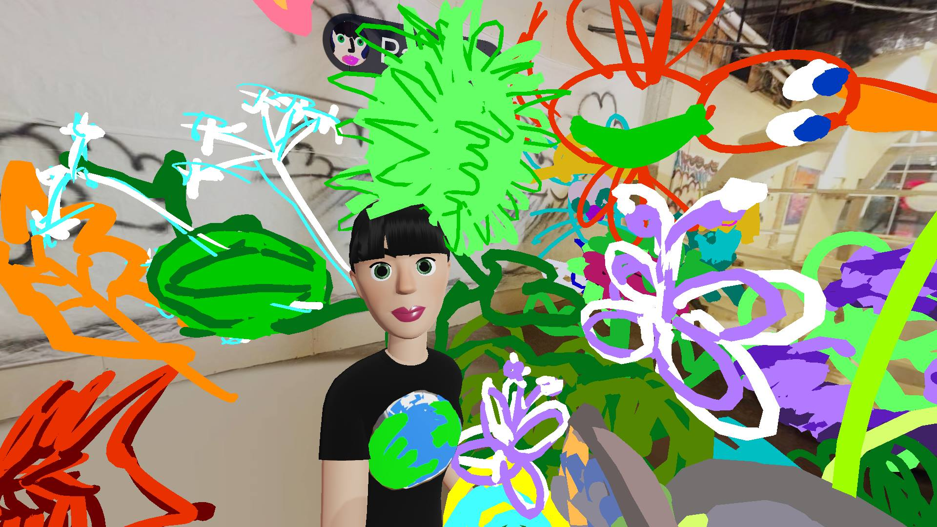 Me, happy in the VR Garden… I love drawing in Virtual Reality!
