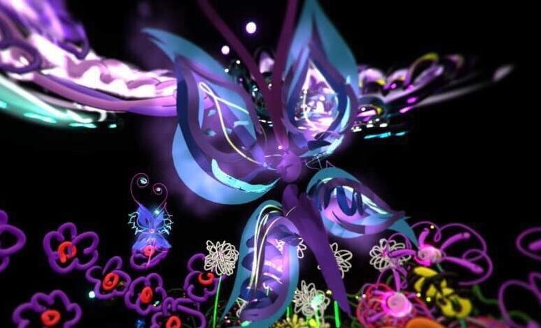Butterflies, VR Garden Remix. Iva Leon,  AR/VR Women and Allies