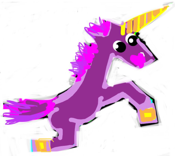 Cute Purple unicorn